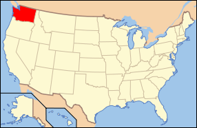 Map Of The U.s. Highlighting Washington