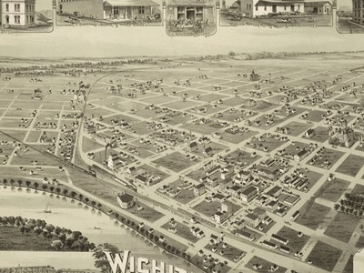 Map Of Wichita Falls In 1890