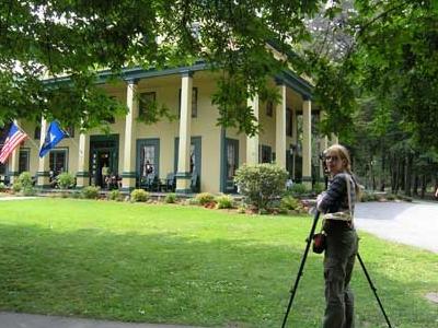 Margaret Carney Photographing Lithophanes