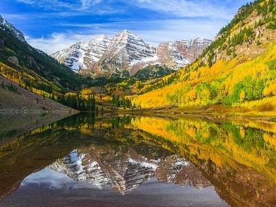 Maroon Lake & Bells - CO Elk Mountains