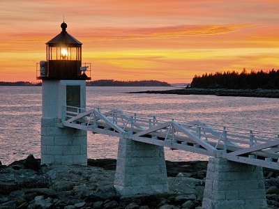 Marshall Point Lighthouse In Port Clyde ME