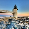 Marshall Point Lighthouse View From Below - Port Clyde ME