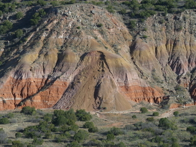 Landslide At Palo Duro