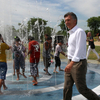 Mayor Mauricio Macri In Indoamerican Park