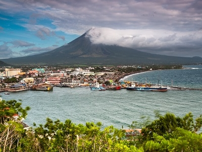 Mayon Volcano Behind Legazpi City