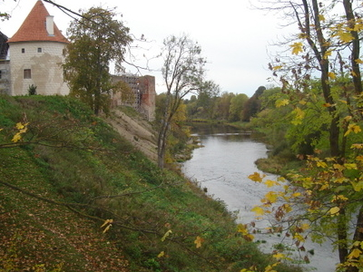 M  C 4  9 3mele River At  Bauska  Castle