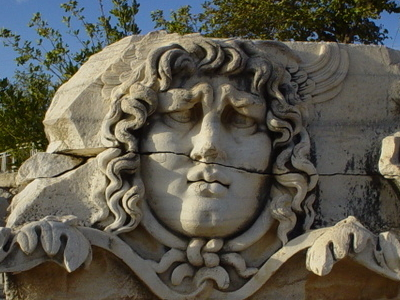Stone Carved Medusa
