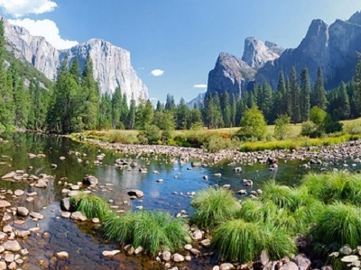 Merced River In Yosemite Valley