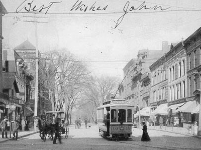 Meriden Ct Colony St Postcard Pre 1 9 0 6