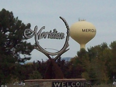 Meridian  Idaho  Welcome  Sign