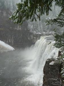 Mesa Falls Close To Winter