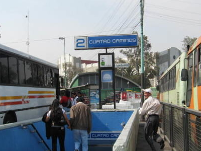 Cuatro Caminos Station Entrance From Bus Area