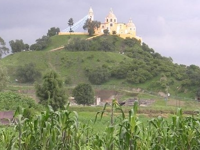 Pyramid Appears To Be Natural Hill Topped By A Church