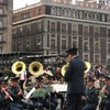 A Mexican Army Band Performs In The Zócalo