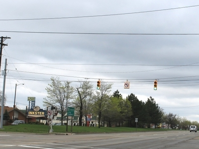Michigan Avenue At Beech Daly Road Facing West