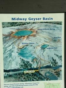 Midway Geyser Basin Trail Map