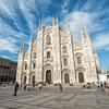 Milan Cathedral At Piazza Del Duomo