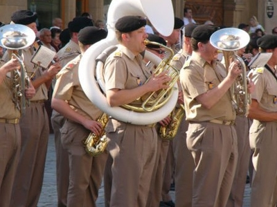 Military Band Playing - Luxembourg