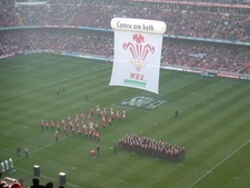 The Pre-Match Entertainment At Stadium
