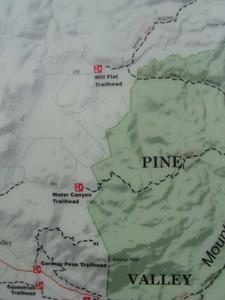 Mill Flat Trail Head Map