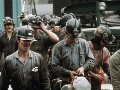 Miners At The Virginia Pocahontas Coal Company Mine
