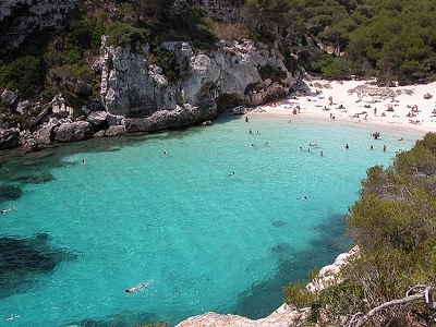 Minorca Cala Macarelleta - Clear Blue Waters & White Sand