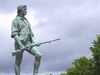 Minuteman Statue And Hayes Memorial Fountain On Lexington Common