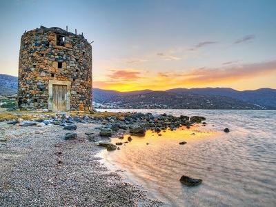 Mirabello Bay Windmill Ruin - Crete Island