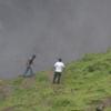 Misty Base Of Gocta Waterfall