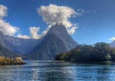 Mitre Peak In Fiordland National Park NZ