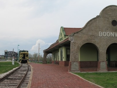 Mkt Depot And Bridge On The Katy Trail