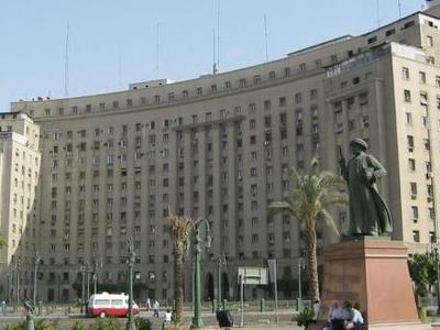 Mogamma Building And Omar Makram Statue