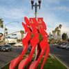 Modern Art Display On El Paseos Median.