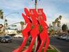 Modern Art Display On El Paseos Median.