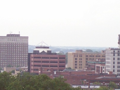 Moline Illinois Skyline.