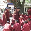 Monks In Lhasa - Tibet