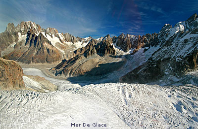 Mont Blanc Area Mer De Glace In Foreground