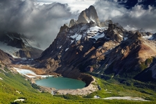 Monte Fitz Roy With Laguna Torre