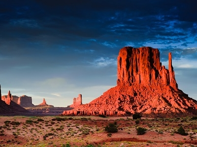 Monument Valley At Sunset