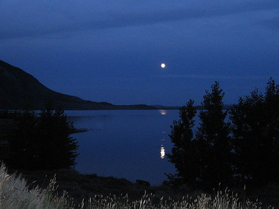 Moon Over Buffalo Bill State Park