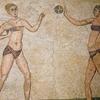 Mosaics Of Girls In Bikinis At The Villa Romana