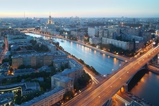 Moskva River At Kotelnicheskaya Embankment In Moscow