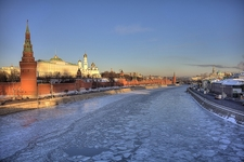 Moskva River With Kremlin In Moscow