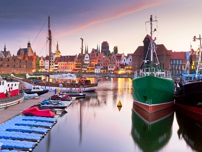 Motlawa River Harbor In Gdansk