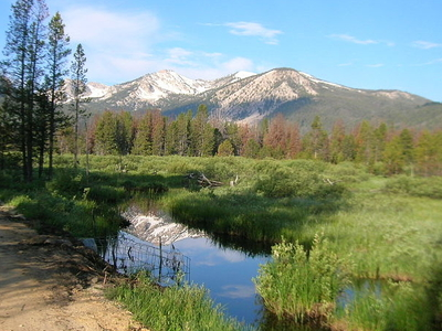 Mountains Behind Stanley Lake