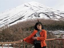 Mount Fuji Visitor At Viewing Platform