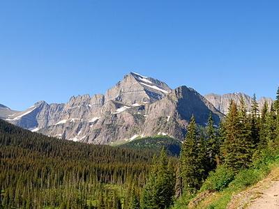 Mount Gould At Glacier - USA
