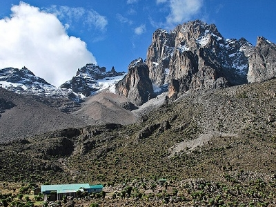Mount Kenya With Shipton's Hut