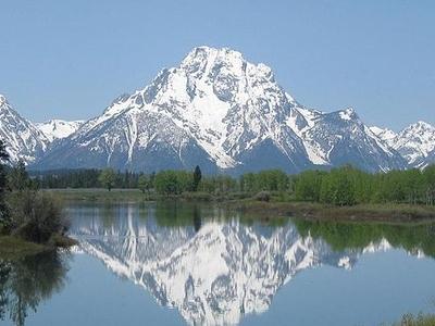 Mount Moran At Grand Tetons - Wyoming - USA