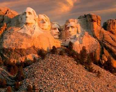 Mount Rushmore Memorial In Keystone SD